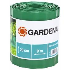 Бордюр садовый зеленый 9м * 20см Gardena