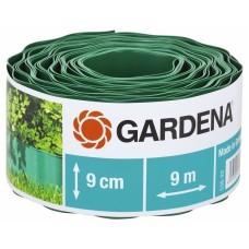 Бордюр садовый зеленый 9м * 9см Gardena