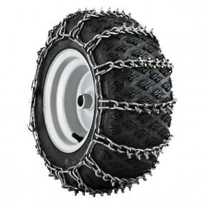 Цепи с шипами Husqvarna на колеса для райдеров  и снегоубрщиков