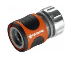Коннектор автостоп Premium шланги 3/4,5/8 Gardena