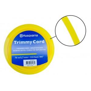 Триммерный корд Husqvarna 2,7мм/70м круглый (желтый)
