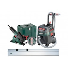 Набор УШМ (Болгарка) Metabo W 12-125 HD Set CED 125 Plus + ASR 35 L ACP + Направляющая