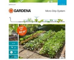 Набор для полива микрокапельные площадь 40 м кв Gardena