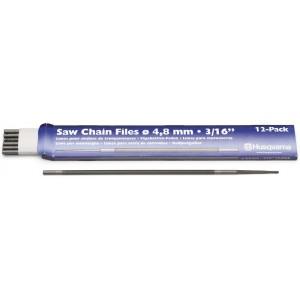 Напильник круглый Husqvarna 4.8 мм, 12 шт, повышенной стойкости