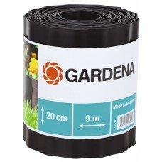 Бордюр садовый коричневый Gardena, 9м. * 20см.