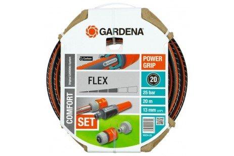 "Шланг Gardena Flex 9x9 1/2 ""х 20м комплект"